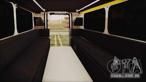 Markshop Jeepney para GTA San Andreas vista traseira
