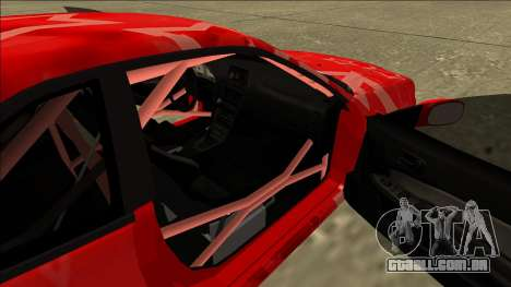 Nissan Skyline R34 Drift Red Star para GTA San Andreas vista traseira