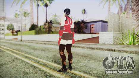 Tekken Tag Tournament 2 Zafina Dress v2 para GTA San Andreas terceira tela