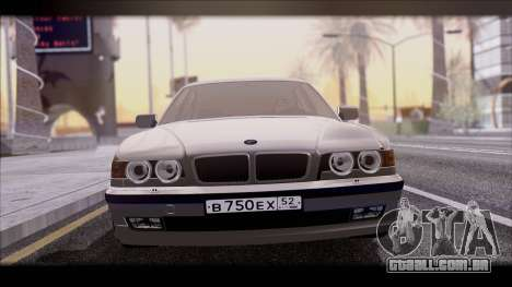BMW 7-er E38 para GTA San Andreas traseira esquerda vista