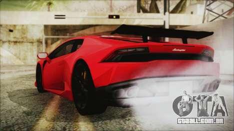 Lamborghini Huracan LP610-4 Novitec Torado 2015 para GTA San Andreas esquerda vista