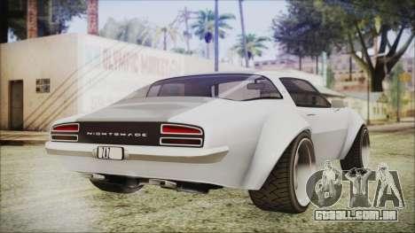 Imponte Nightshade para GTA San Andreas esquerda vista