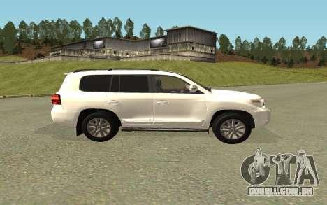 Toyota Land Cruiser 200 Bulkin Edition para GTA San Andreas traseira esquerda vista