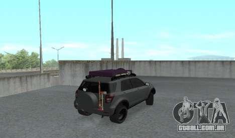 Toyota Terios 2009 FORA-de-ESTRADA de LAMA-o-TER para GTA San Andreas traseira esquerda vista