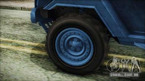 GTA 5 HVY Insurgent Pick-Up IVF para GTA San Andreas traseira esquerda vista
