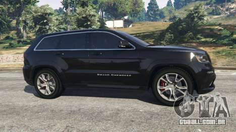 GTA 5 Jeep Grand Cherokee SRT8 2013 vista lateral esquerda