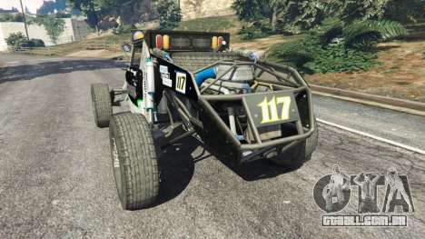 GTA 5 Ickler Jimco Buggy [Beta] traseira vista lateral esquerda
