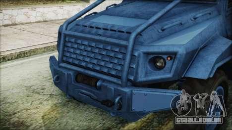 GTA 5 HVY Insurgent Pick-Up IVF para GTA San Andreas vista interior