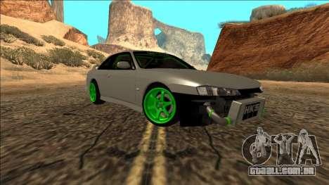 Nissan Silvia S14 Drift Monster Energy para GTA San Andreas traseira esquerda vista