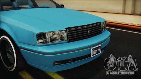 GTA 5 Albany Primo Custom Bobble Version IVF para GTA San Andreas vista interior