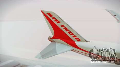 Boeing 747-237Bs Air India Chandragupta para GTA San Andreas traseira esquerda vista