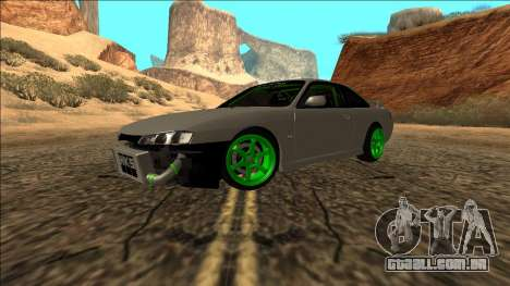 Nissan Silvia S14 Drift Monster Energy para GTA San Andreas vista direita
