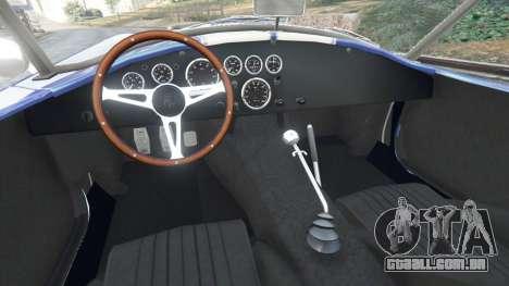 GTA 5 AC Cobra v1.3 traseira direita vista lateral