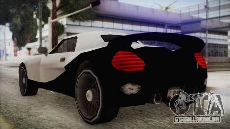 BETA Yakuza Shark para GTA San Andreas traseira esquerda vista