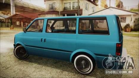 GTA 5 Declasse Moonbeam No Interior para GTA San Andreas esquerda vista