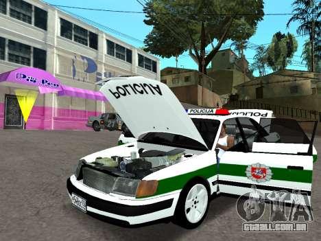 Audi 100 C4 1995 Police para GTA San Andreas vista traseira