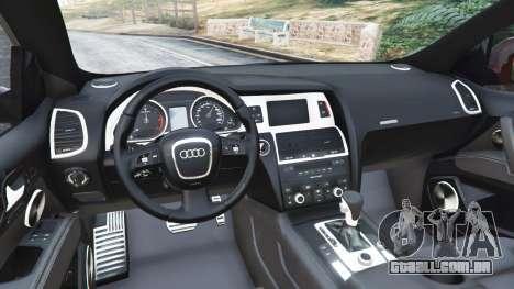 GTA 5 Audi Q7 2010 traseira direita vista lateral