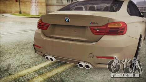 BMW M4 Coupe para GTA San Andreas vista traseira