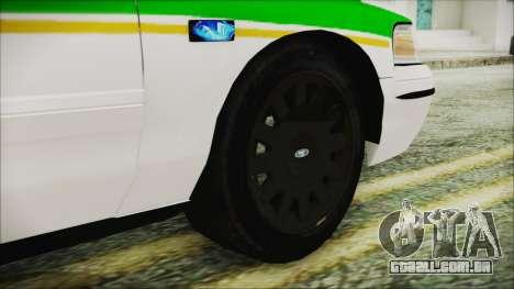Ford Crown Victoria Miami Dade v2.0 para GTA San Andreas traseira esquerda vista