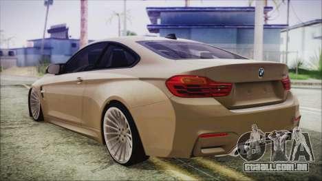 BMW M4 Coupe para GTA San Andreas esquerda vista