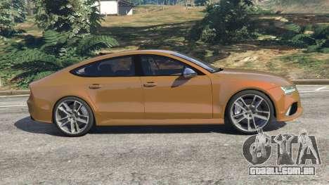 GTA 5 Audi RS7 2016 vista lateral esquerda