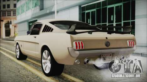 Ford Mustang Fastback 1966 Chrome Edition para GTA San Andreas esquerda vista