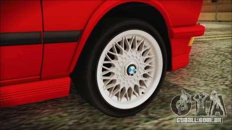 BMW M5 E28 1988 para GTA San Andreas traseira esquerda vista