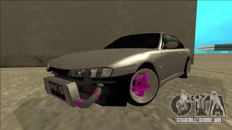 Nissan Silvia S14 Drift para GTA San Andreas vista traseira
