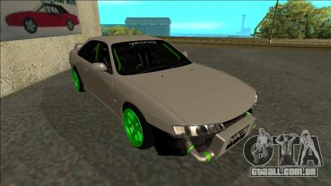 Nissan Silvia S14 Drift Monster Energy para GTA San Andreas esquerda vista