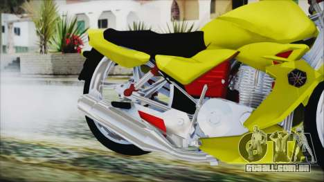 Yamaha Tuning Full Cromo para GTA San Andreas vista direita