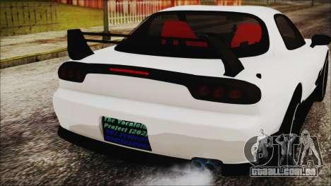Mazda RX-7 Enhanced Version para GTA San Andreas vista traseira
