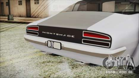 Imponte Nightshade para GTA San Andreas vista traseira
