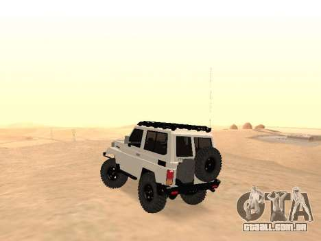 Toyota Machito Off-Road (IVF) 2009 para GTA San Andreas traseira esquerda vista