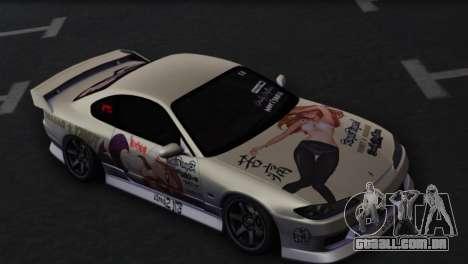 Nissan Silvia S15 Daily Drifters para GTA San Andreas vista interior