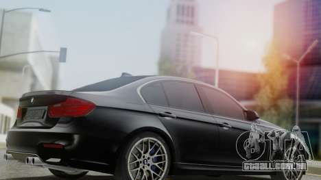 BMW M3 F30 SEDAN para GTA San Andreas esquerda vista