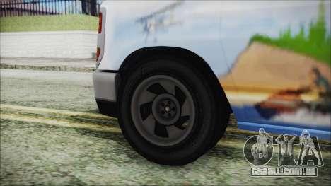 GTA 5 Bravado Paradise Lumberjack Artwork para GTA San Andreas traseira esquerda vista