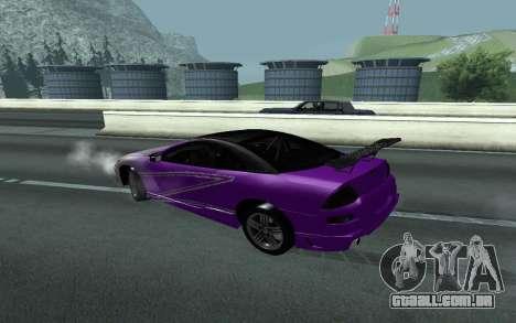 Mitsubishi Eclipse GTS Tunable para GTA San Andreas vista traseira