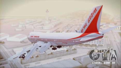 Boeing 747-237Bs Air India Samudragupta para GTA San Andreas esquerda vista