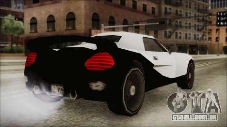 BETA Yakuza Shark para GTA San Andreas esquerda vista