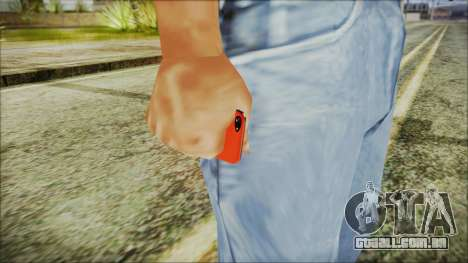 iPhone 5 Red para GTA San Andreas terceira tela