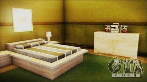 CJ House New Interior para GTA San Andreas por diante tela