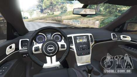 GTA 5 Jeep Grand Cherokee SRT8 2013 traseira direita vista lateral