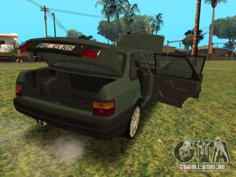Volkswagen Passat B3 para GTA San Andreas vista traseira
