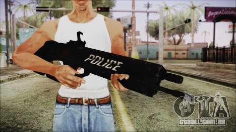 Cyberpunk 2077 Rifle Police para GTA San Andreas terceira tela