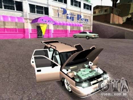 VAZ 2111 Tuning para GTA San Andreas vista interior