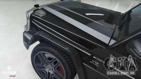 GTA 5 Mercedes-Benz G63 AMG v1 frente vista lateral direita
