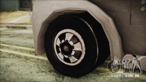 Hot Wheels Funny Money Truck para GTA San Andreas traseira esquerda vista