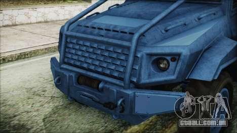 GTA 5 HVY Insurgent Pick-Up IVF para GTA San Andreas vista traseira