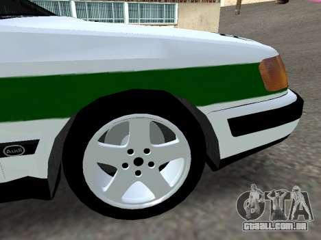 Audi 100 C4 1995 Police para GTA San Andreas vista direita