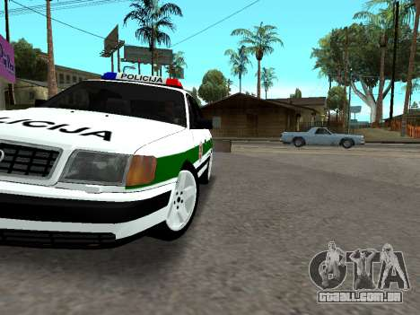Audi 100 C4 1995 Police para GTA San Andreas vista superior